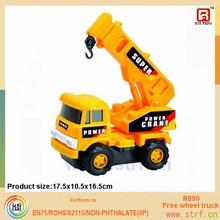 Mini Yellow Cheap Plastic Toy Truck