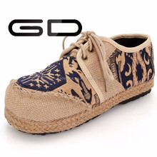 China brand name girls linen material sneakers shoes women 2015