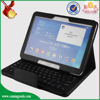 China Factory PU leather 10 inch bluetooth keyboard tablet case with for samsung T530