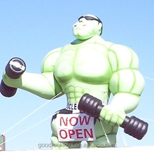 Green Muscleman Inflatable/inflatable bodybuilder