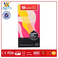 Natural rubber latex Fantacy Love men and women condom ribbed liquid condom