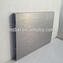 moderne en aluminium anodisé argent base de profils de moulures