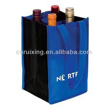 4 pack non-woven wine bag