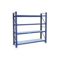 Detachable Steel Tyre Rack Storage Racks Blue Coated Warehouse Goods Rack Storage Goods Steel Shelf