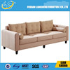 2015 Antique 3 seats fabric sofa with solid wood legs-#S011-M3-5
