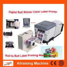 High Speed Auto CMYK 4 Color Label Printing Machine,Desktop Office Sticker Printing Machine,Digital Roll to Roll Label Printer