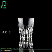 285ml hot selling golden rim Wine Glass Cup