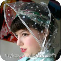 PE plastic / PVC / EVA disposable waterproof rain cap rain hood