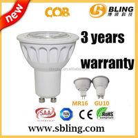 New design Aluminum 35w halogen CE RoHS Spotlight 5W COB 2700K GU10