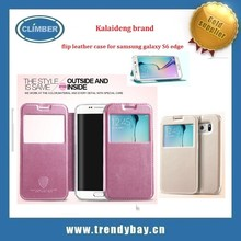 Kalaideng brand new products flip leather case for Samsung Galaxy s6 edge