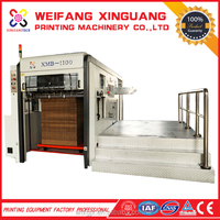 semi-auto 1100*780mm printing and deeply press die cutting machine for shoes cartons