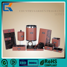 Professional Country Garden Fragrance Series brown leather hotel amenities