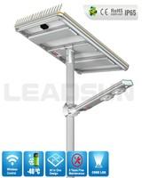 Leadsun 120w solar lamp Outdoor cheap integrated solar led street light , all in one design solar led garden light