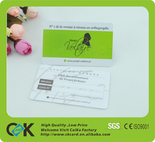 customized low price full color printed plastic business card from China maker