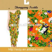 Great material cheap printed silk material fabric floral