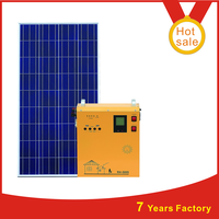 300W , 600W , 1KW, 1500W portable solar power generator system for home use all in one controller and battery inside
