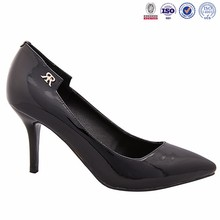 patent leather pointed high-heeled shoes Black fine with shallow Women's shoes of sexy dress