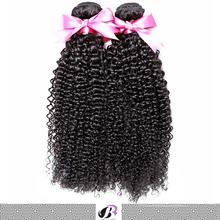 Good quality unprocessed wholesale virgin brazilian kinky curl hair jerry curl hair weave