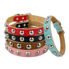 Wholesale New Design Quality 1 Row Shiny Studs Leather Dog Collar