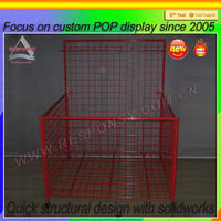metal dump bins display case custom wire display box