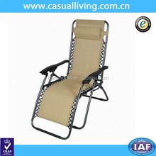Folding recliner zero gravity chair for garden outdoor or indoor beach chair