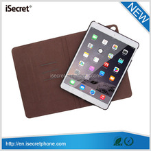360 degree rotation tablet leather case for iPad air 2 with volume amplify