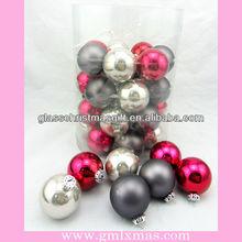 Elegant Barrelled Glass Christmas Ball decor,57mm-100mm glass ball,Trade Assurance supplier