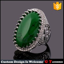 Wholesale hollow out stone men ring with oval crack silicone diamond