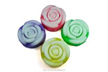 Wholesale rose shape handmade soap skin whitening soap