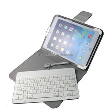 MFI certified Light ABS Leather Keyboard Case with stand support for Apple ipad