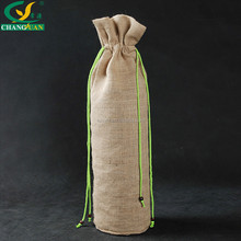 China wholesale price recyclable jute wine bag