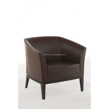 Alime modern brown leather lounge chair for hotel bedroom furniture sets AAC118
