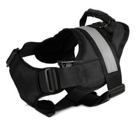High-perrformance Durable dog reflective band dog body harness black
