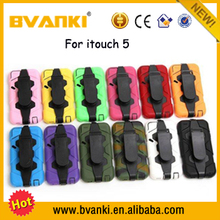 Bulk Buy From China Hybrid PU TPU Rugged Shockproof Case For iPod Touch 5, TPU Case Cover For Apple iPod Touch 5 Case