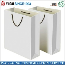2015 hot sale paper clothing bag in white kraft paper