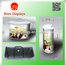 2014 New Hight Quality Customade White Strong ABS Body Two Layers Folding Plastic Promotion Table