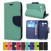 Hot Selling Book Style Wallet Stand Flip Leather Mobile Phone Case for Samsung Galaxy Core Prime/ G360