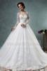 S1762 Wonderful long sleeve appliqued ball gown wedding dresses in turkey 2015