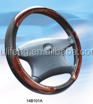 High quality pvc/pu wooden steering wheel cover of car accessories china