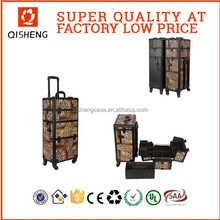 hair styling rolling case makeup artist carrying trolley cosmetics case on spinning wheels film studio tool case