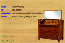 Reasonable price solid wooden bedroom furniture dresser sale for queen lady