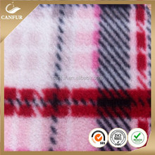 100%polyester micro knitted dyed antipilling polar fleece fabric