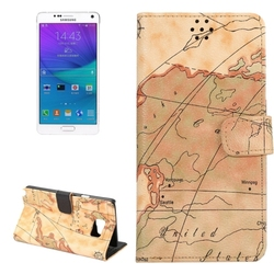 Trade Assurance Accepted PC and PU Map Pattern Case for Samsung Galaxy Note 5 for Wholesale