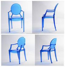 Blue clear Louis Ghost Chair