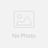 Pure zircon stone gold plated brass bridal jewelry set necklace with stud earrings