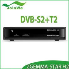 Original zgemma-star H2 DVB-S2+T2/C Enigma 2 twin tuner Hot sale in Italy & Spain Zgemma star H2 satellite receiver