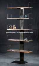 el borde de los diseñadoresindustriales librero de madera de pantalla