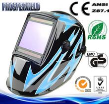 CE EN379 Approved Patented design 4 Sensors Solar Auto Darkening Welding Helmet with Decals