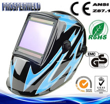 CE EN379 Approved Patented design welding mask,4 Sensors Solar Auto Darkening Welding Helmet with Decals
