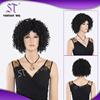 100 japanese kanekalon heat resistant synthetic fiber 48''afro wigs for black men